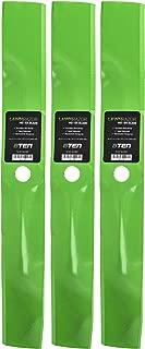 8TEN LawnRAZOR Mulching Blade for John Deere 54 Inch Deck Scotts Sabre 325 335 345 M113518 M76467 3 Pack
