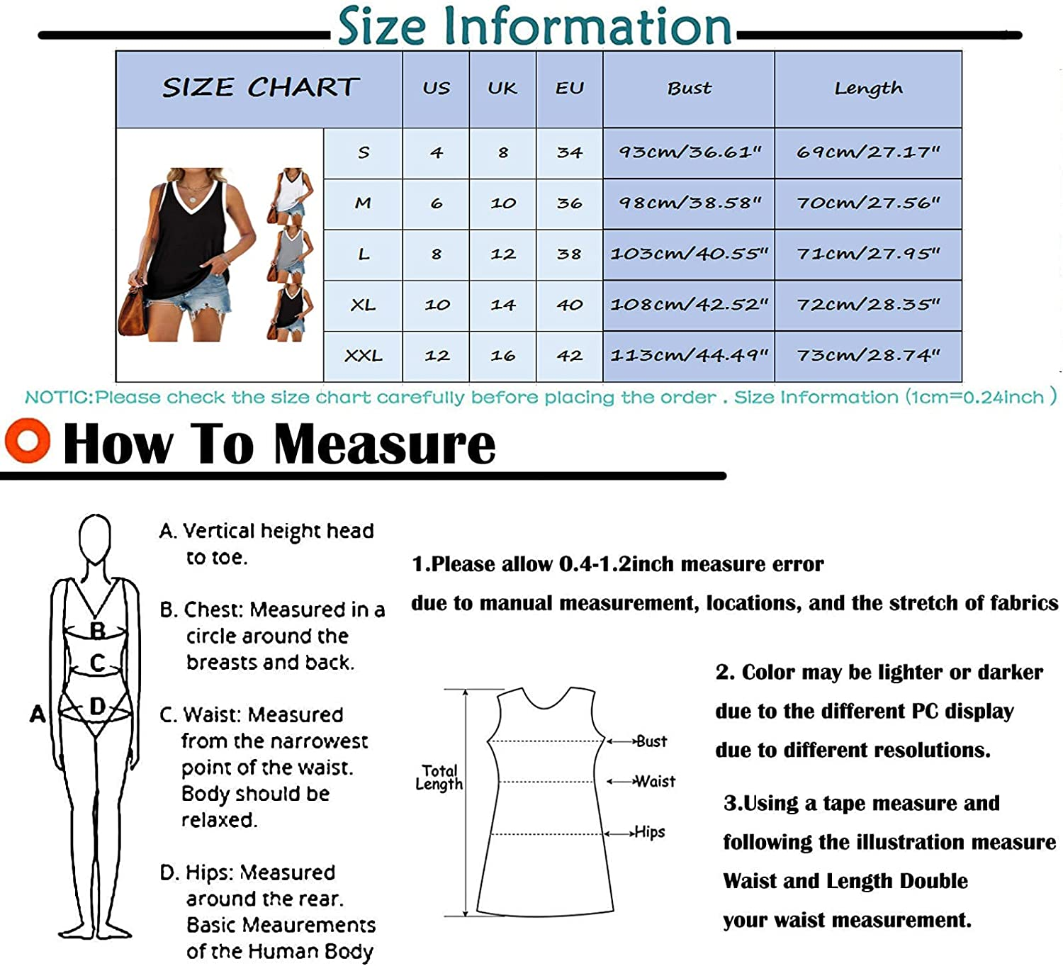 Tank Tops for Women Loose Fit, Womens Tank Tops V Neck T Shirts Sleeveless Tops Floral Side Split Tanks