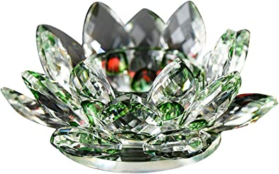 Amlong Crystal Faceted Round Crystal Candle//Tealight Holder Set of 2