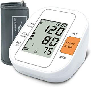 TaoQi Upper Arm Blood Pressure Monitor Upper Arm, 2 Users, 99 Sets Measuring Records Memory, Irregular Heart Rate Indicate, Pulse Rate Monitoring Meter, FDA Approved Digital BP Machine for Home Use
