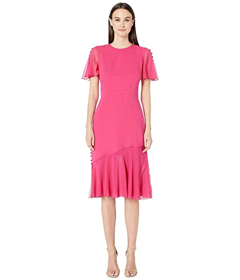 Prabal Gurung Victoria Flutter Sleeve Dress