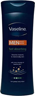 Vaseline Men Fast Absorbing Non-Greasy Body Lotion for Normal to Dry Skin 400ml