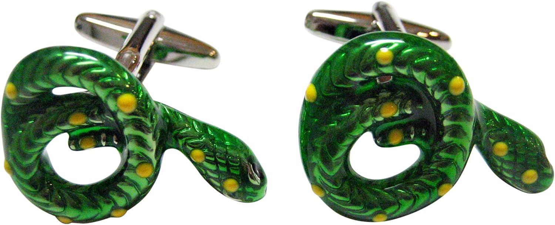 Kiola Designs Green Snake Cufflinks