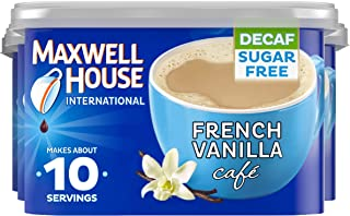 Maxwell House International French Vanilla Decaf Sugar Free Cafe Beverage Mix, 4 ct. Pack, 4 oz Canisters