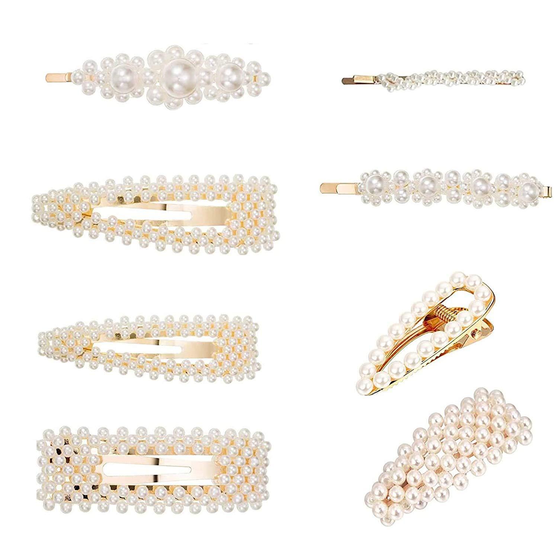 Haarspange Für Frauen 8 stk Haarspangen Haarnadeln Mond Dreieck-Form Kreis D8P2