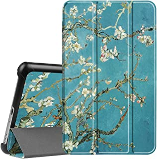 Fintie Slim Shell Case for Samsung Galaxy Tab A 8.0 2017 Model T380/T385, Ultra Lightweight Standing Cover with Auto Sleep/Wake for Galaxy Tab A 8.0 Inch SM-T380/T385 2017 Release, Blossom