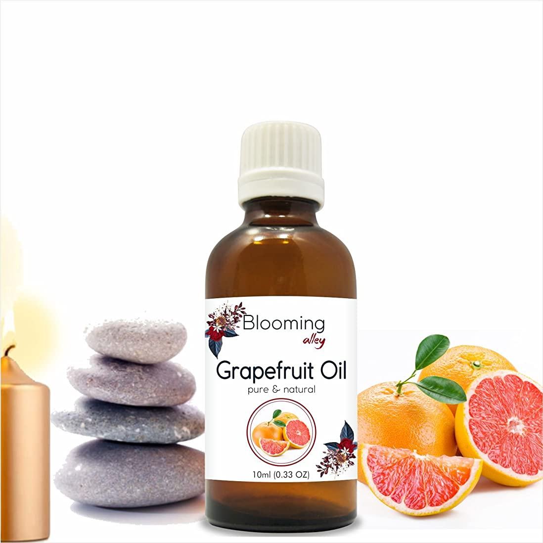 必須確かにあごGrapefruit Oil (Citrus Paradisi) Essential Oil 10 ml or 0.33 Fl Oz by Blooming Alley