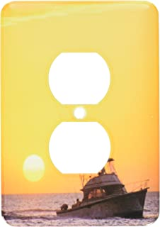 3dRose A fishing boat and sunset in Key West, Florida - US10 DFR0107 - David R. Frazier, 2 Plug Outlet Cover