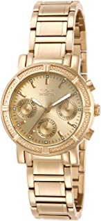 Invicta Women's 14873 Wildflower Gold Dial 18k Gold Ion-Plated Stainless Steel Watch