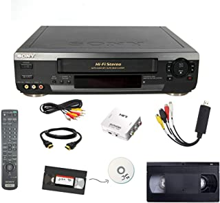 Sony VCR VHS Transfer Bundle w/ Remote, USB Adapter, HDMI Converter