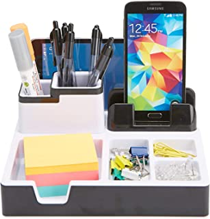 $23 » Mind Reader USBORG-BLK Port Supplies Organizer with Charging Station, Pencil, Paper Clip, Desk Accessories Holder, Black USB Charger Stand