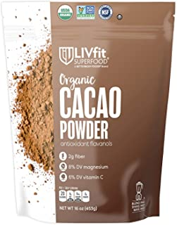 Organic Cacao Powder 1 lb, 100% Organic Cacao Powder Enjoy A Delicious And Guilt-Free Chocolate Superfood, Easy Substitute For Cocoa, Produced by BetterBody Foods