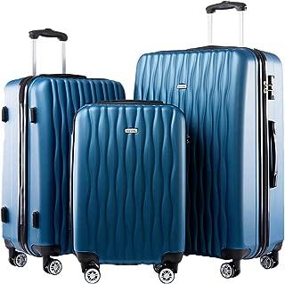 blue luggage sets