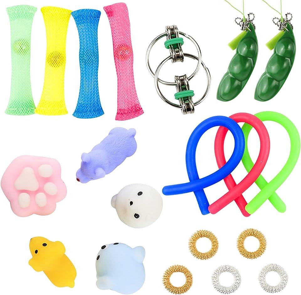 Sensorisches Fidget-Spielzeug-Set, Fidget Spielzeug-Set, Squeezing Anti-Stress-Toys Dekompression-Spielzeug, Quetschspielzeug Anti Stress Sensorisches Spielzeug Set für Kinder und Erwachsene (A)