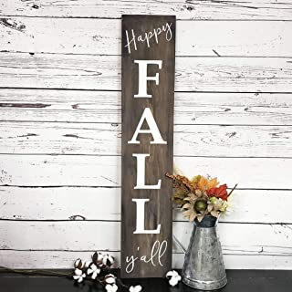 JokeKKK000 Happy Fall Yall Sign Welcome Sign Front Porch Welcome Sign Farmhouse Fall Decor Custom Welcome Sign Front Porch Wood Sign