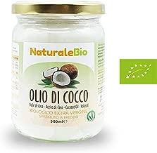 Olio di Cocco Biologico Extra Vergine 500 ml   Crudo e Spremuto a Freddo   Organico e Puro al 100%   Ideale sui Capelli, sul Corpo e ad Uso Alimentare   Olio di Cocco Bio Nativo e non Raffinato