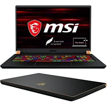 MSI GS75 9SF-274DE Stealth (43,9 cm/17,3 Zoll/144Hz)Gaming-Laptop (Intel Core i7-9750H,16GB RAM, 1TB PCIe SSD, Nvidia GeForce RTX2070 8GB, Windows 10 Pro)