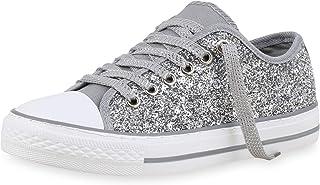 pretty nice b8710 912f3 Suchergebnis auf Amazon.de für: glitzer - Silber / Sneaker ...