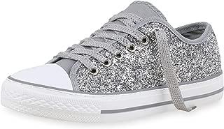 Glitzer Sneakers silber 39