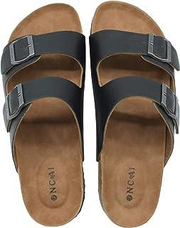 ONCAI Homme-Mules-Sandales-Claquette-Arizona-Slide-Sandales de Plage Loisir Bout Ouvert Chaussures de Plage Antidérapant É...