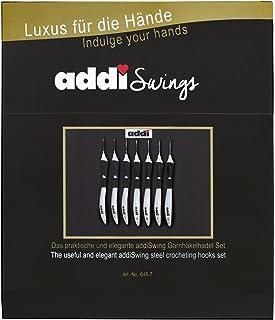 ADDI Swing Étui à 7 aiguilles à crochet Noir 24 x 6,5 x 2 cm