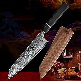8.5 'Couteau Bunka de pouce VG10 Damas Japonais Damas Cuisine Chef de cuisine Santoku Couteau de cuisson Couteaux de cuiss...