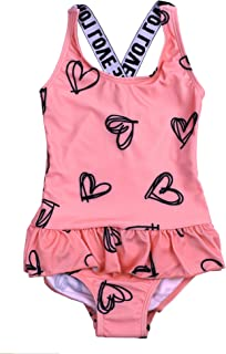 Maketina Baby Girls Swimsuit One Piece Beachwear Swimwear Bathing Suits