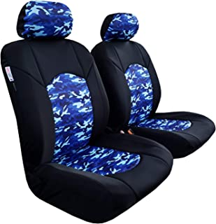 9pc Black Camo Low Back CarsCover Real Black Camo Seat Covers Maple Forest Tree Leaf Pattern Camouflage for Auto Truck Car SUV Hunter Style Seat Cover