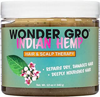 Indian Hemp Hair Grease Pomade, 12 fl oz - Hair Regrowth Styling Treatment - Deeply Nourishes & Repairs Damages By Wonder Gro