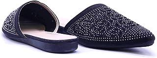 dovani Black Mule Slipper For Women