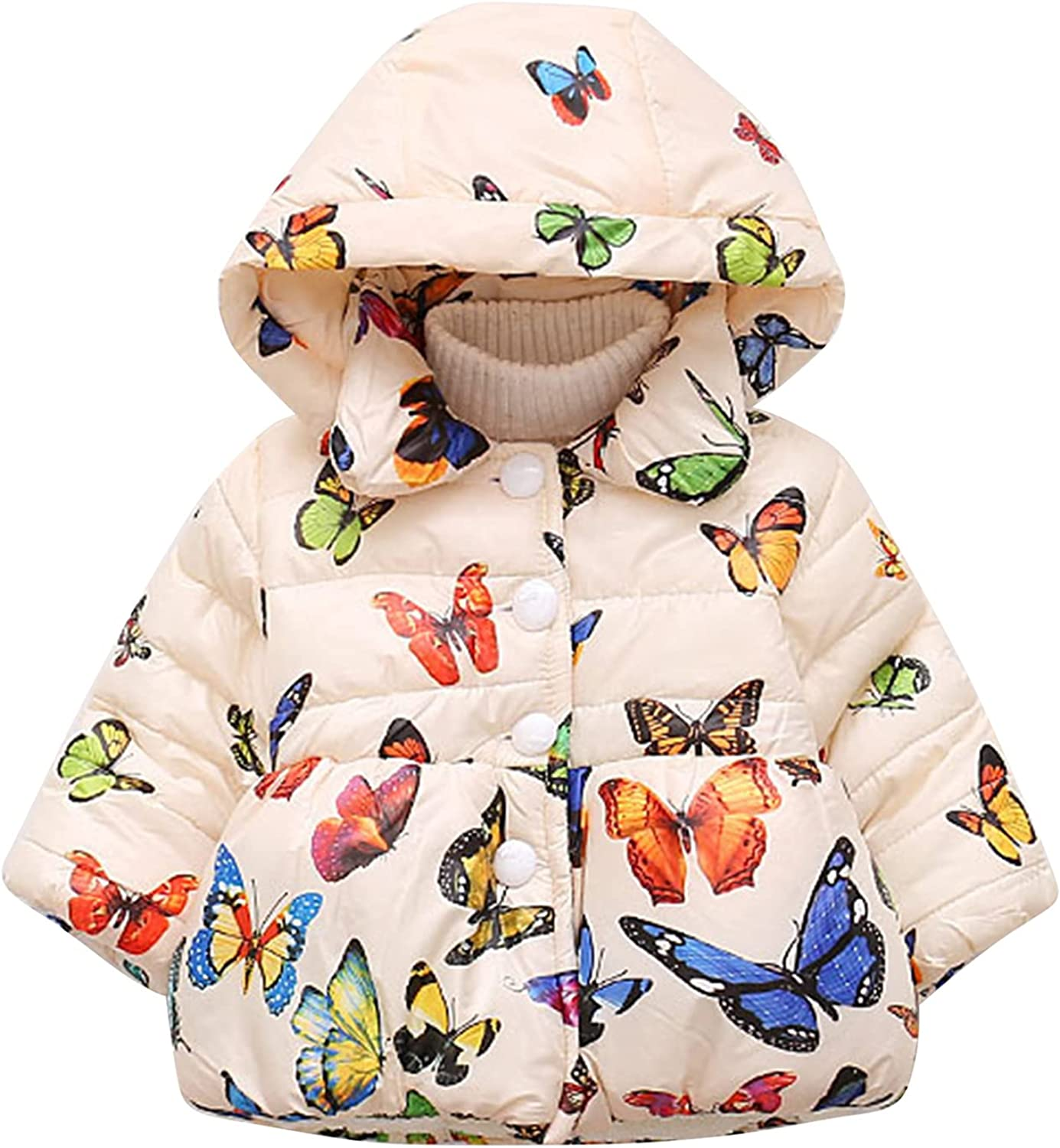 YEAHDOR Genuine Free Shipping Toddler Baby Girls Winter Down Coats Light Puffer Hoods Our shop OFFers the best service