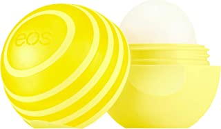 eos Shea + SPF Sphere Lip Balm - Lemon Twist | SPF 15 and Water Resistant | Deeply Hydrates and Seals in Moisture | Sustainably-Sourced Ingredients | 0.25 oz