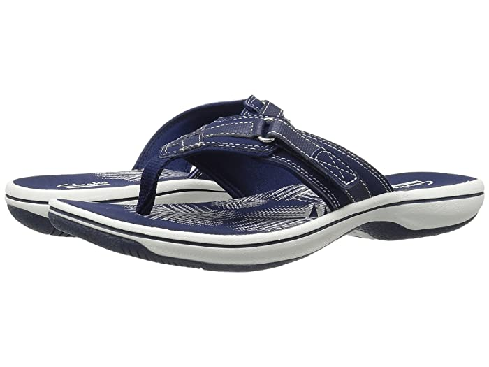 Clarks  Breeze Sea (Navy Synthetic) Womens Sandals