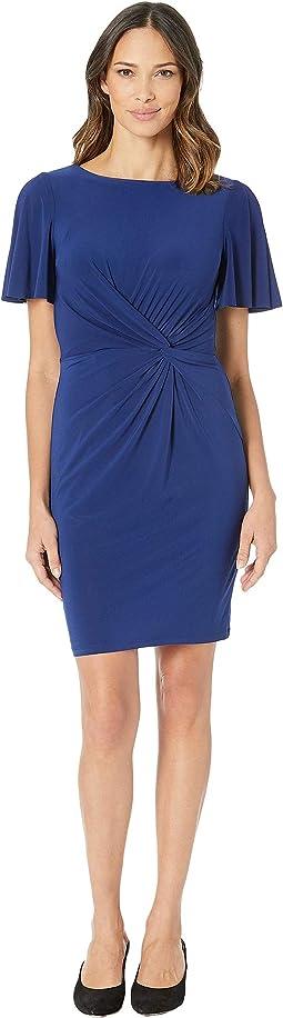 4R Matte Jersey Beckyann Short Sleeve Day Dress