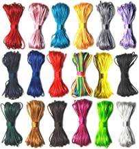 Ewparts 18 Bundles 1.5mm Rattail Satin Nylon Trim Silk Cord for Braided Necklace, Chinese Knot, Macramé, Trim, Jewelry Making,10 Meters Each Bunble