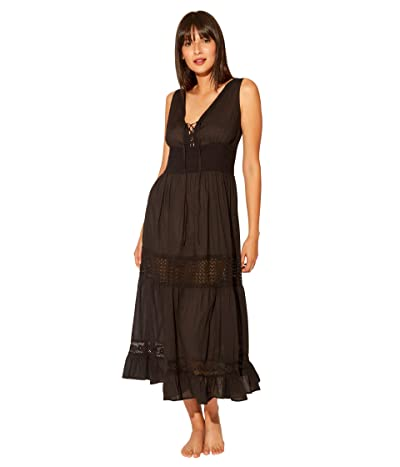 Bleu Rod Beattie India Bazaar Long Dress Cover-Up (Black) Women