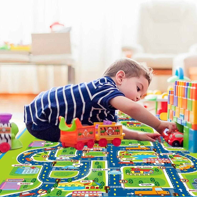 プレイマット ベビーマット 洗える 柔らかい ベビーラグ 遊びマット 滑り止め 北欧 幼児 テントベッドのカーテンの装飾 1.6×1.3m