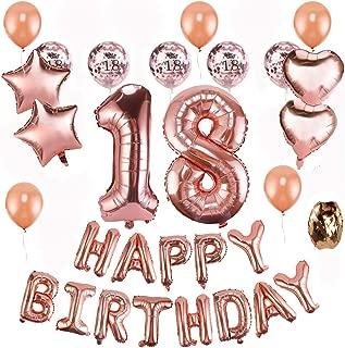 18 Cumpleaños Globos Decoración Oro Rosa - Oro Rosa Happy ...