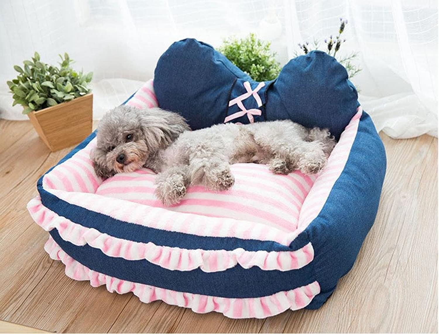 Dog Bed Cat Mat Pet Dog Cat Suppliess Detachable and Washable W24, B, s