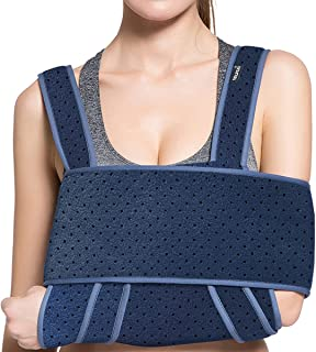 Medical Arm Sling Shoulder Immobiliser-Comfort Rotator Cuff Support Brace - Ergonomic Adjustable Strap For Men, Women & Ki...