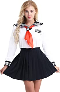 Womens' Sexy Schoolgirl Lingerie Set Japanese Anime Role Play Costume Sailor School Uniform Outfit