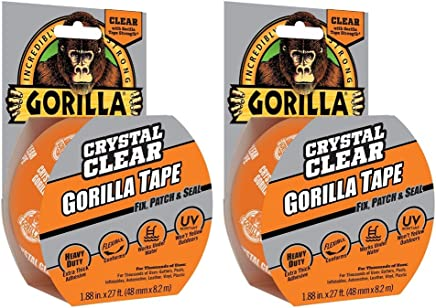 Gorilla Crystal Clear Duct Tape, 1.88