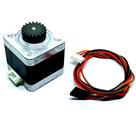 INVENTO Nema 17 4.2 Kg cm Bipolar Stepper Motor with 19 teeth Gear for CNC Robotics RepRap 3D Printer