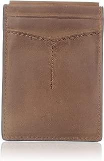 Men's Quinn Leather Magnetic Card Case Wallet