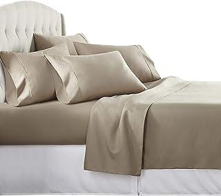 6 Piece Hotel Luxury Soft 1800 Series Premium Bed Sheets Set, Deep Pockets,..