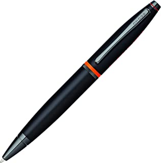 Cross Calais Liberty United Matte Black Lacquer Ballpoint Pen with Glossy Black PVD Appointments