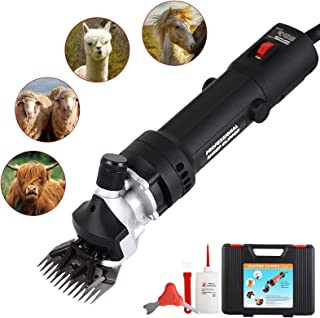 SUNCOO Sheep Shears Portable Animals Electric Clippers for Goats, Alpaca, Horse Support Heavy Duty Livestock Shearing Work 350 Watts (Black)