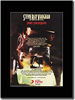 - Stevie Ray Vaughan - Couldnt Stand The Weather - つや消しマウントマガジンプロモーションアートワーク、ブラックマウント Matted Mounted Magazine Promotional Artwork on a Black Mount