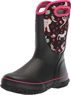 Bogs Unisex Slushie Snow Boot, Crayon Black/Multi, 12 Medium US Little Kid