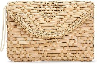JOSEKO borsa paglia mare, portafogli a busta, pochette di paglia intrecciata a mano retrò, adatte per viaggi estivi, appun...